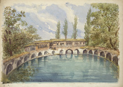 Source of the River Jhelum in octagonal tank, Verinag (Kashmir). 1 June 1886